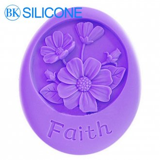 Flowers Faith Silicone Soap Molds Cake Decorating Tools Mould AJ024