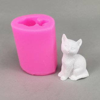 BK1086 DIY 3D Cat Candle Mold Шоколадная форма 3D Декоративные мыльные формы для тортов Декоративные инструменты