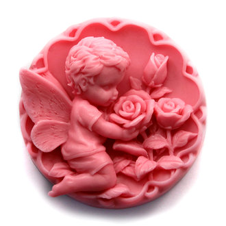 Silikon Soap Molds Angel Baby Rose Choklad Mögel Cake Mögel AA016