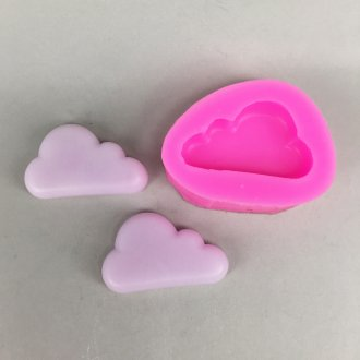BK1093 Cloud Silicone Mold - Sugarcraft, Fondant, Cake Decorating Tools, Gum Paste, Perhiasan DIY, Resin Polimer Tanah Liat Cetakan