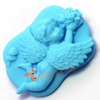 Kedatangan Baru 3D Baby Angel Silicone Soap Mould Cake Candle Molds Mold AK014
