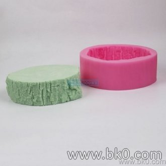 BJ002 3D Big Tree Stump Silicone Cetakan Kue Natal Fondant Cake Decorating Chocolate Clay Candy Molds Kitchen Baking