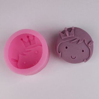 BG005 Princesa cabeça Silicone Soap mold Craft Moldes DIY Handmade Candle molds