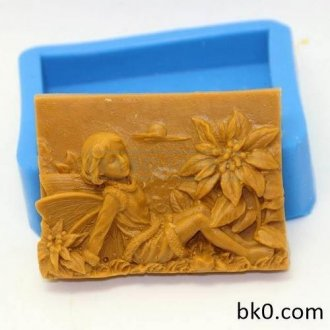 Flower Fairy Silicone Moulds Angel sápu kaka Mould AA003