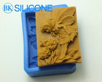 Beautiful Faery Silicone Soap Molds Cake Decorating Mould AC016