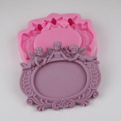 BG007 Snowman head wholesale silicone soap mold resin mold Fondant