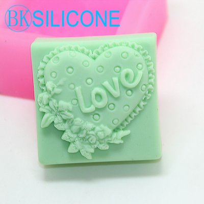 Love Silicone Soap Mold Craft Molds DIY Handmade Soap Molds Heart Shaped AN003
