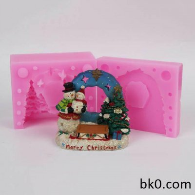 3D Christmas Tree Snowman Silicone Mold Cake Decorating WC020