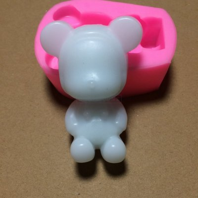 BM006 Cute And Lovely Bear Shape Fondant Cake Molds Tools Soap Chocolate Mould