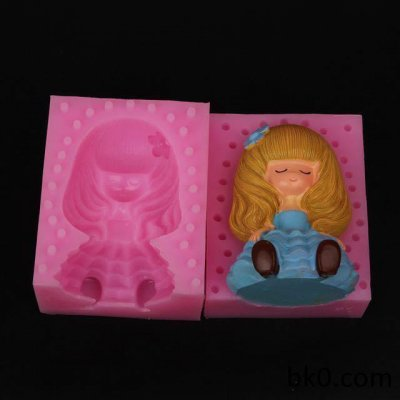 Cake Decoration Mould 3D Silicone Chocolate Soap Candle Mold Girl WA017