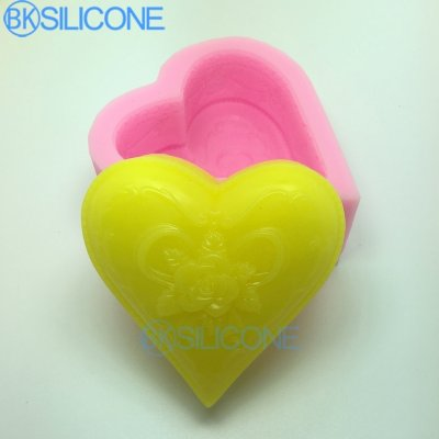 Heart Shaped Flowers Silicone Mold Craft Molds DIY Handmade Cake Molds AN025