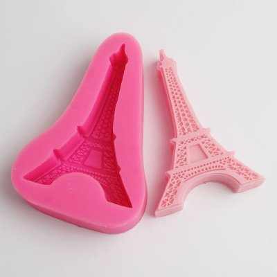 BE010 Paris Eiffel Tower Cake Mold Fondant Silicone Mold Cake Tools Candy Moulds