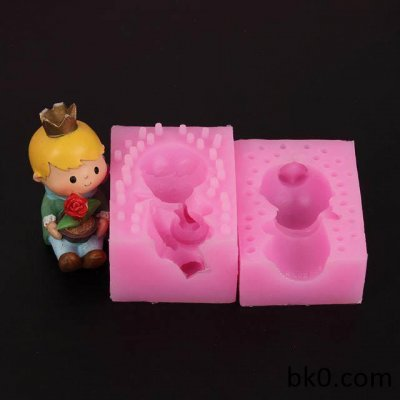3D Silicone Soap Candle Molds Resin Silicone Molds Cake Decorating Tools Holding The Rose Boy WA008