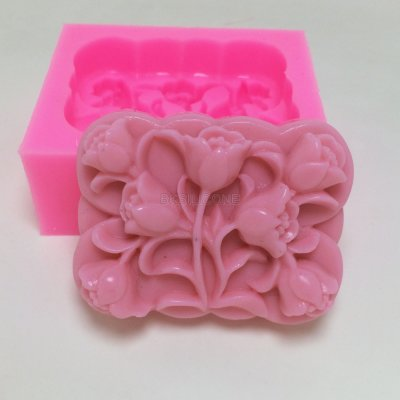 BN019 Silicone mold rose shape flower decoration cake mold chocolate clay craft mould