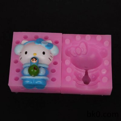 3D Silicone big forCat Cake Mold Fondant Baking Topper Cupcakes Mould cartoon WB010