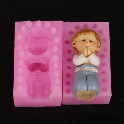3d pray boy silicone moulds soap mold cake decorating candle resin molds WA005