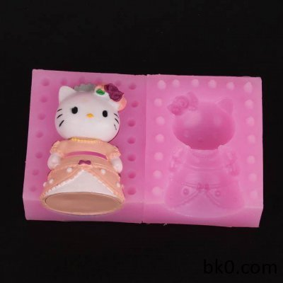 3D silicone moulds soap mold cake decorating tools candle resin molds cat wedding WA002