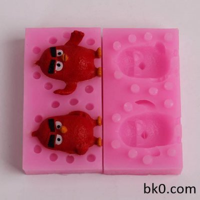 3D Bird Silicone Handmade Soap mold DIY mould cake baking decorating fondant tool BKSILICONE WB015