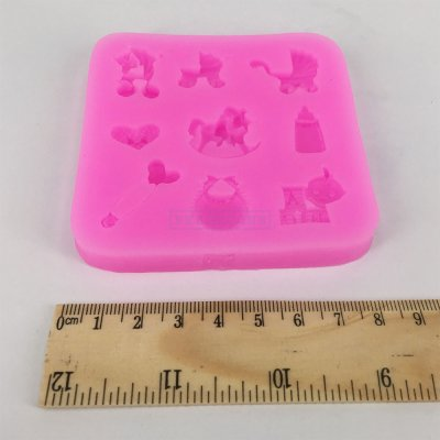 S1008 Baby Shower Party Cake Mold Silicone Fondant Cake Chocolate Soap Sugar Craft Mould