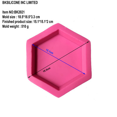 BK2021 hexagonal aromatherapy gypsum candle spreading stone hand mounted car base silicone mold