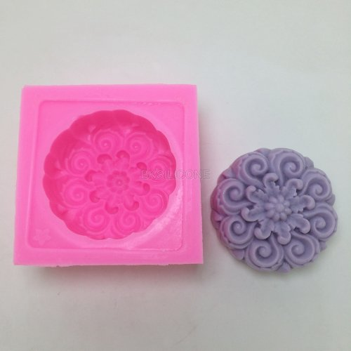 BN014 Flower Soap Mold Craft Art Silicone Soap mold Craft Molds DIY  Handmade Candle molds