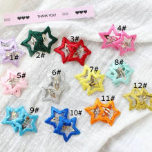 Colorful star hairpin