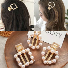 Fashion round pearl hairpin