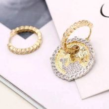 pave round charms earring , charms hoop earrings ,