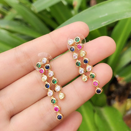Line colorful Earring Rainbow earring 7*32mm