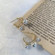 S925 Silver Needle Pearl Earrings for Ladies