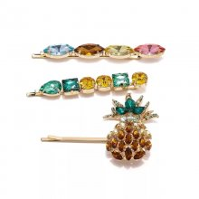 Hot selling pin appple pin hair  , brooch , colorful pin hair (set 3piece)