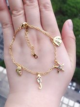 Summer Collection Jewelry , sea horse, starfish, shell bracelet  long24cm