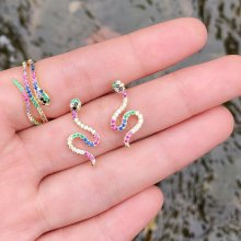 Colorful Earrings Snake earring ( price by set )