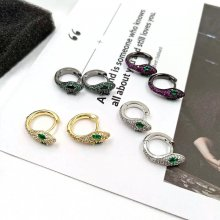 Simple Fashion Snake Earring Small Colorful earring samll snake hoops earring. 5*16mm