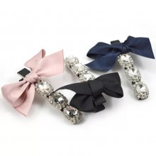 Drilled fabric bow hairpin for ladies.pink/blue/black hairpin.length 7 cm