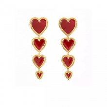 Punk Wind Gilded Heart Earrings.red/sliver red/white/black earrings.8.5*2.5cm