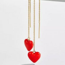 Heart-shaped oil drop eardrop for ladies.red/pink/black earrings10*10mm