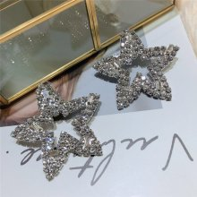 Zircon Pentagon Hollow out Earrings for Ladies.sliver earring 8.5cm