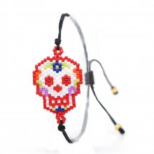 Miyuki Jewelry Colorful Skull Bracelet National Style