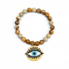 Miyuki TURKEY EVIL EYE with Natural  Stone Bracelet