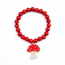 Miyuki Red Cherry with Natural Stone Bracelet