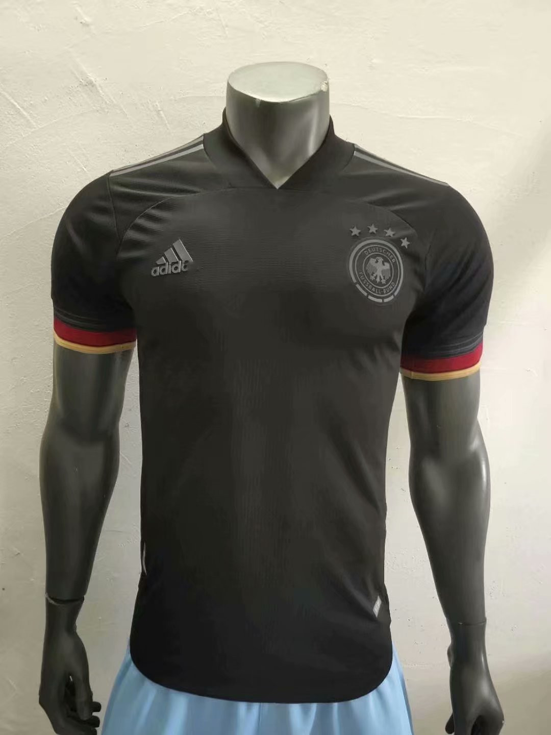 2020-2021 New Adult Top players shirt Germany away black ...