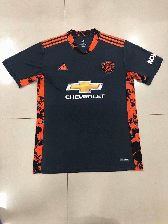 20/21 New Adult Thai version MUN Manchester united black club soccer jersey football shirt