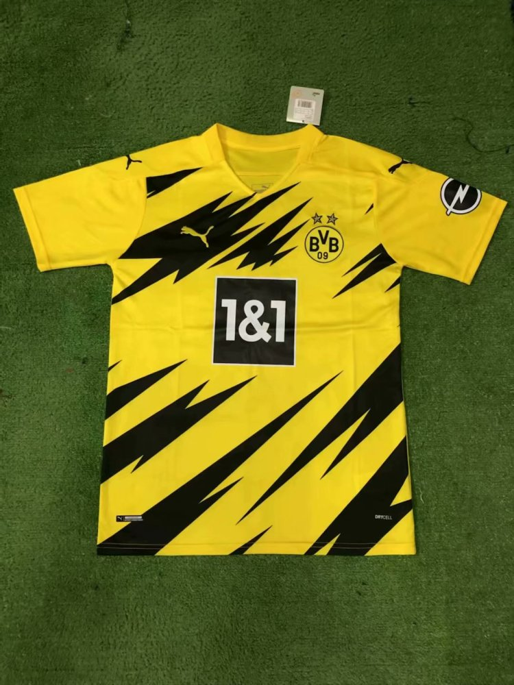 20 21 New Adult Thai Version Bvb Borussia Dortmund Home Yellow Club Soccer Jersey Football Shirt