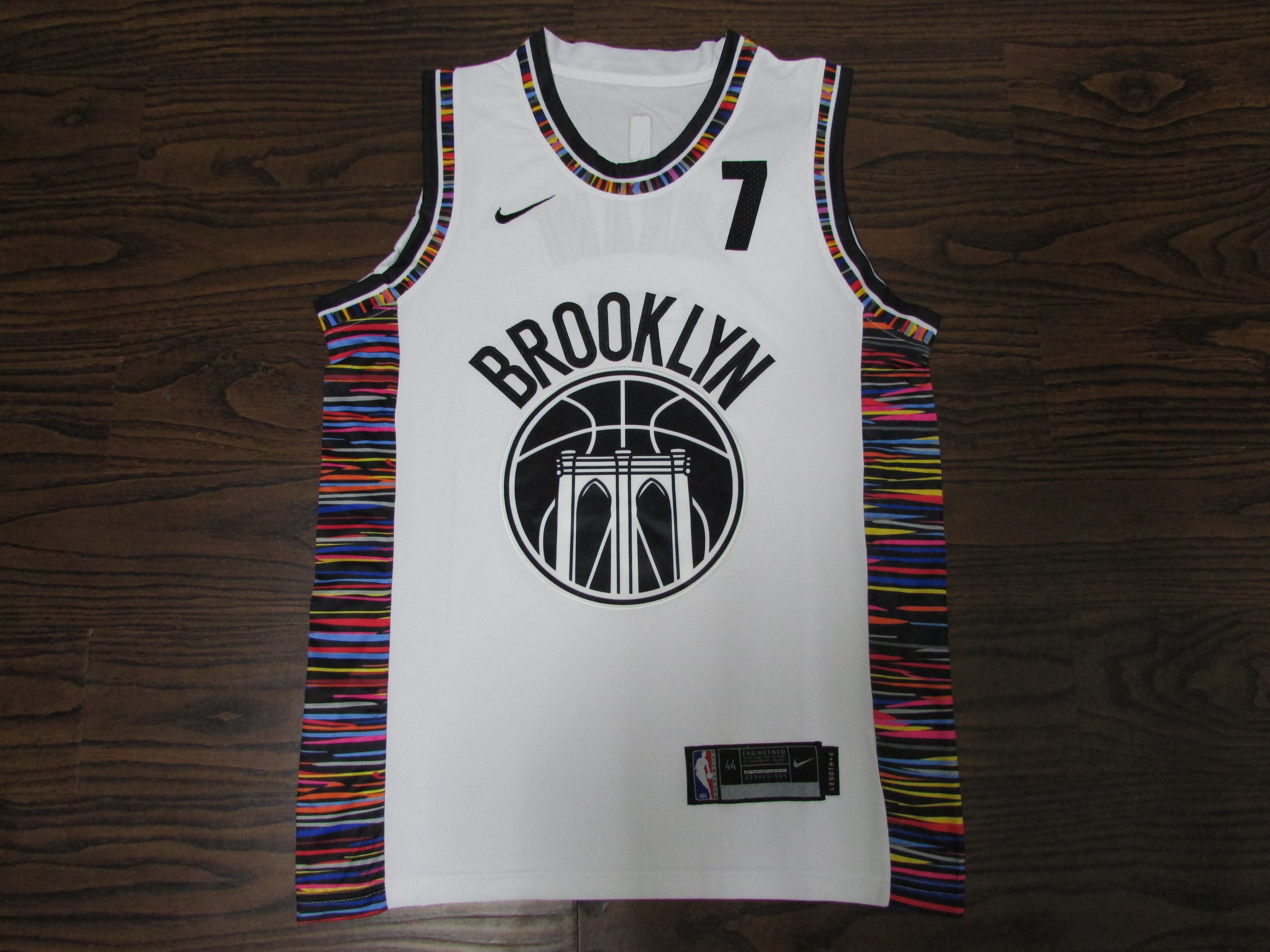 20/21 New Men Nets 7 white city edition basketball jersey ...