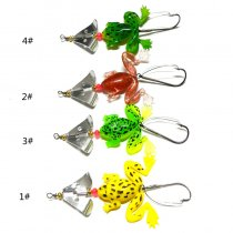 Wholesale 4Pieces/set Soft Frog Lure with Spinner Buzzbaits