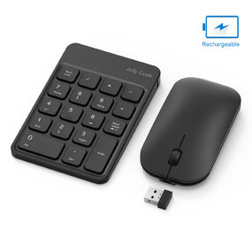 Rechargeable Wireless Number Pad and Mouse Combo N026C