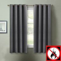 NICETOWN Flame Retardant Fire Resistant Curtains, 52 Inches  Wide, 2 Panels