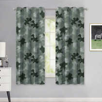 NICETOWN Army Comforter Room Darkening Boys Camo Curtains for Bedroom, Grommet Top Military Style Camouflage Pattern Thermal Insulated Panels Drapes for Kids Room, W52, 2 Panels