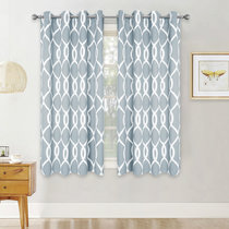 Pattern Blackout Curtains for Bedroom, Morden Trellis Print Window Curtains for Living Room, Wide 52 Inches Each Panel, 1 Pair